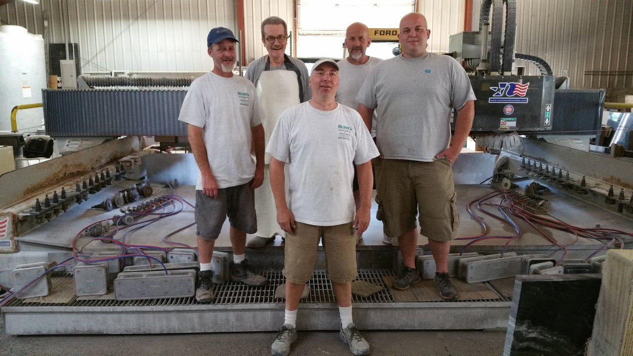 Our granite and marble team
