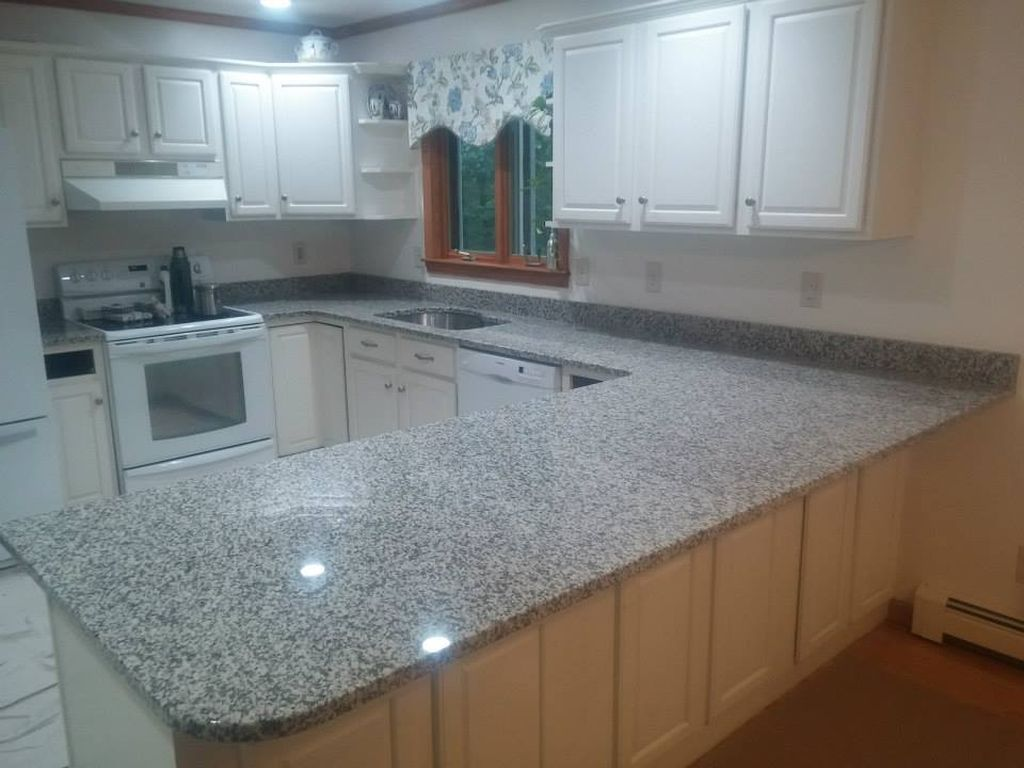 Grey granite countertops