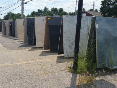 Large granite slab selection