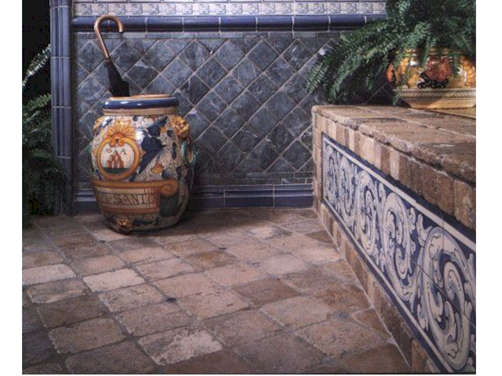 Hand painted Spanish tiles from Cerdomus and American Olean