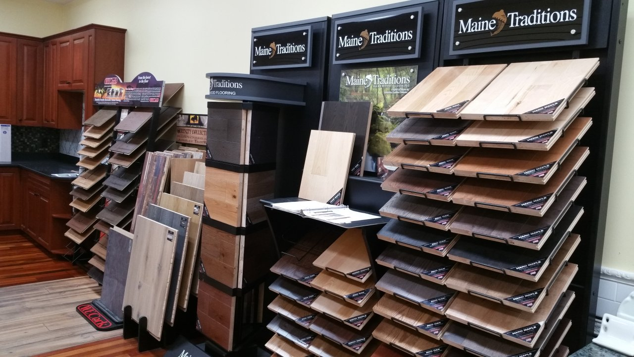 Large variety of wood floors to see